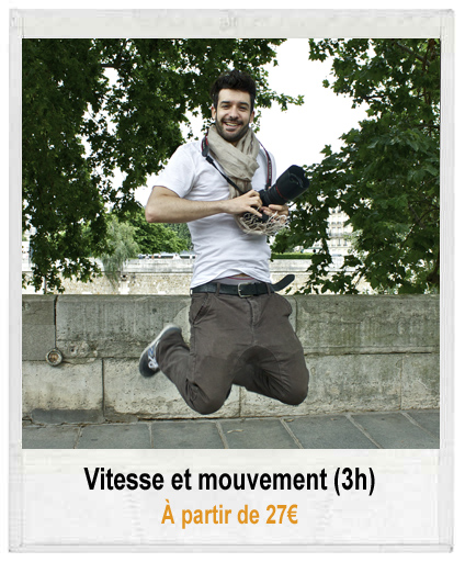 Atelier photo vitesse et mouvement à partir de 27€